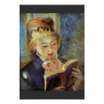 A Girl Reading By Pierre-Auguste Renoir Poster