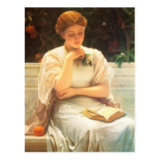 A Girl Reading Postcard
