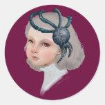 A Girl Round Sticker