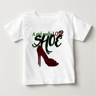 A Girl Spells Love Baby T-Shirt