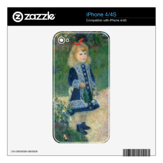 A Girl with a Watering Can, 1876 (oil on canvas) Skins For iPhone 4S