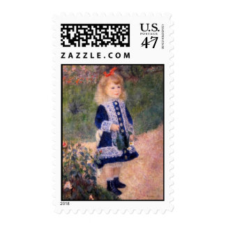 A Girl With A Watering Can by Pierre Renoir Postage