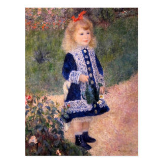 A Girl With A Watering Can by Pierre Renoir Post Cards