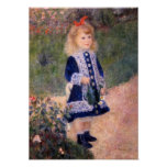A Girl With A Watering Can by Pierre Renoir Posters