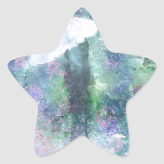 A Girl with a White Umbrella Star Stickers