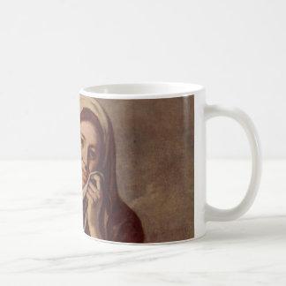 A Girl with Fruits Coffee Mug