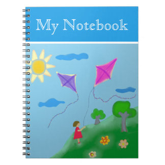A Girl with Kites Notebook