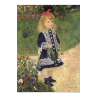 A Girl with Watering Can by Pierre Renoir Card