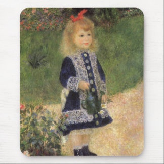 A Girl with Watering Can by Pierre Renoir Mouse Pad