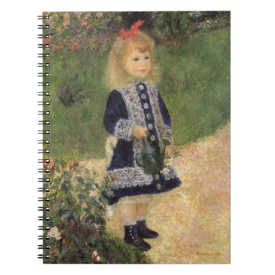 A Girl with Watering Can by Pierre Renoir Notebook