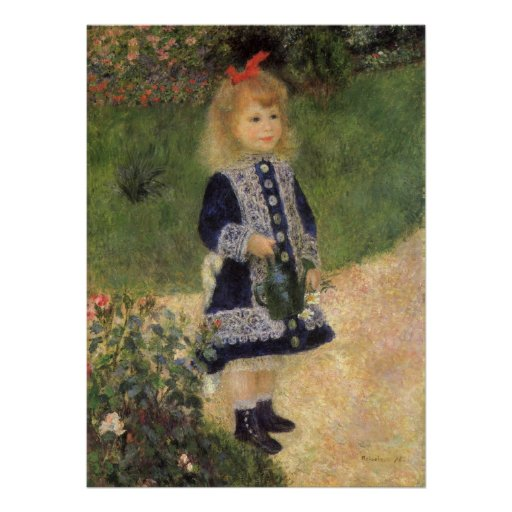 A Girl with Watering Can by Pierre Renoir Poster