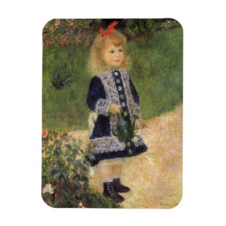 A Girl with Watering Can by Pierre Renoir Rectangular Photo Magnet