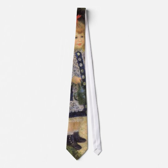 A Girl with Watering Can by Pierre Renoir Tie