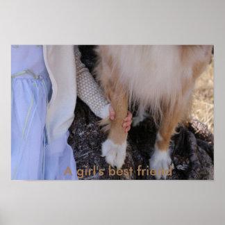 A girl's best friend poster