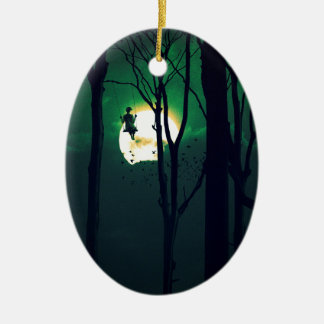 A GIRLS DREAM Double-Sided OVAL CERAMIC CHRISTMAS ORNAMENT