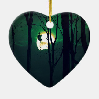 A GIRLS DREAM Double-Sided HEART CERAMIC CHRISTMAS ORNAMENT