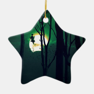 A GIRLS DREAM Double-Sided STAR CERAMIC CHRISTMAS ORNAMENT