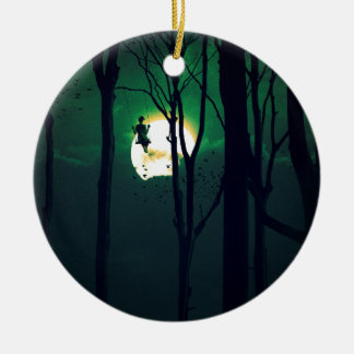 A GIRLS DREAM Double-Sided CERAMIC ROUND CHRISTMAS ORNAMENT