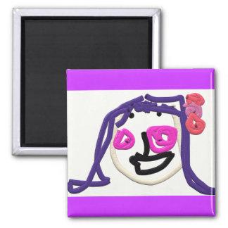 A Girls Face - Magnet