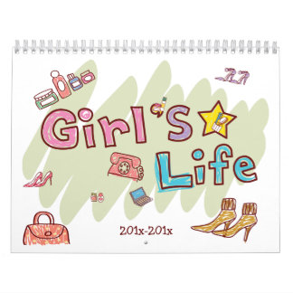 A Girls Life Personalized 2 Year Calendar