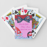 A Girls Sea Life Baby Shower Bicycle Poker Cards