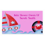 A Girls Sea Life Baby Shower Business Card Template