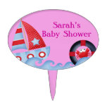 A Girls Sea Life Baby Shower Cake Toppers