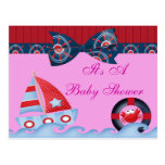 A Girls Sea Life Baby Shower Post Card