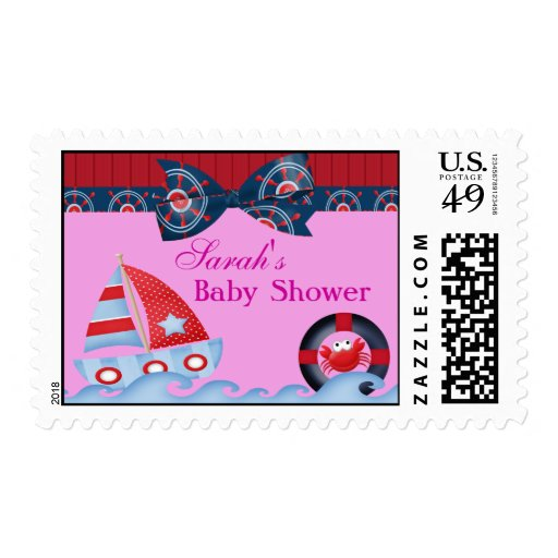 A Girls Sea Life Baby Shower Stamps