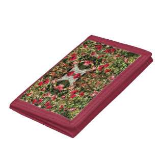 A Girly Kaleidoscope Of Red And Pink Roses Tri-fold Wallets