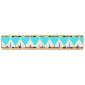 A girly neon teal diamond eiffel tower pattern key holder