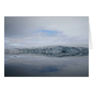 A GLACIER as viewed from the Palmer station. Greeting Card