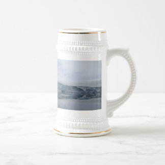 A GLACIER as viewed from the Palmer station. 18 Oz Beer Stein