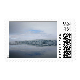 A GLACIER as viewed from the Palmer station. Postage Stamp