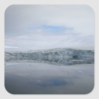A GLACIER as viewed from the Palmer station. Square Stickers