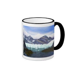 A Glacier Meets the Sea Ringer Mug