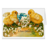 A Glad Eastertide Cute Vintage Easter Stationery Note Card