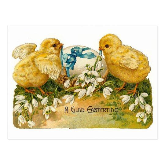 A Glad Eastertide Cute Vintage Easter Postcard
