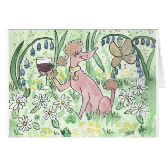 A Glass of Gamay in the Garden Card