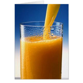 A Glass of Orange Juice Card
