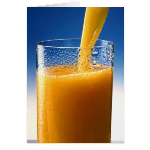 A Glass of Orange Juice Greeting Card
