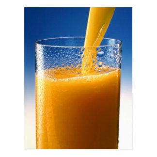 A Glass of Orange Juice Postcard