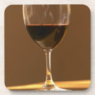 A glass of red Chateau Belgrave in sunlight - Coaster