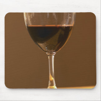 A glass of red Chateau Belgrave in sunlight - Mouse Pad