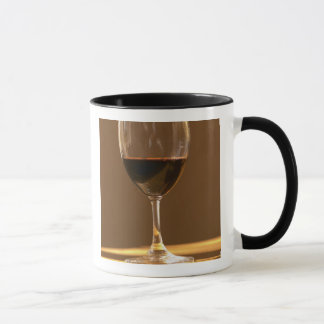 A glass of red Chateau Belgrave in sunlight - Mug