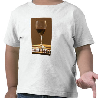 A glass of red Chateau Belgrave in sunlight - Shirt