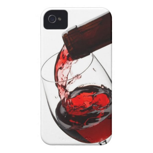 A Glass of Red Wine iPhone 4 Covers