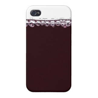 A Glass of Red Wine Covers For iPhone 4