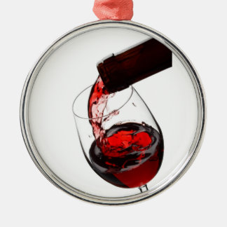 A Glass of Red Wine Metal Ornament