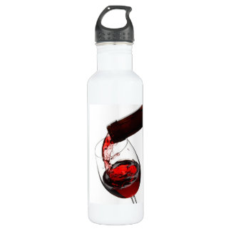 A Glass of Red Wine 24oz Water Bottle